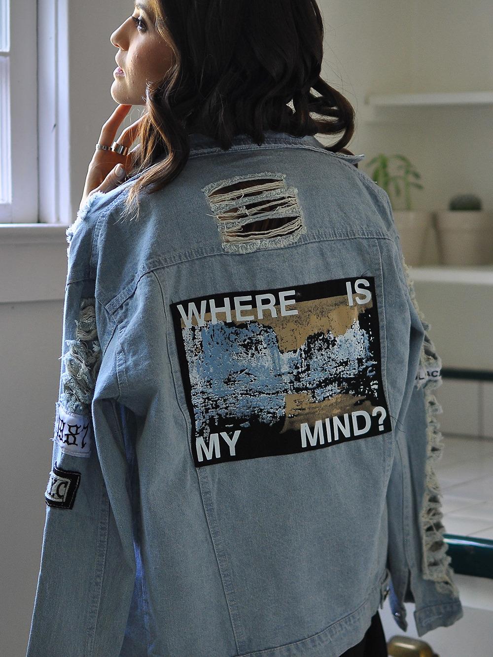 a76060f45e Blue Lapel Vintage Ripped Boyfriend Trends Jean Swish Denim Coat -SheIn( Sheinside)