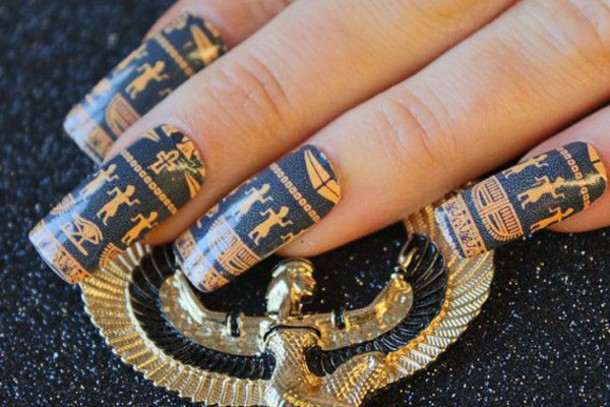 - Nail Accessories, Nails, Nail Art, Egyptian Style - Wheretoget