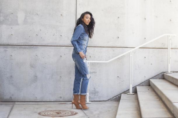ed509a72d4b jumpsuit distressed denim medium wash denim oversized jumpsuit baggy  jumpsuit denim denim jumpsuit ripped jeans shoes