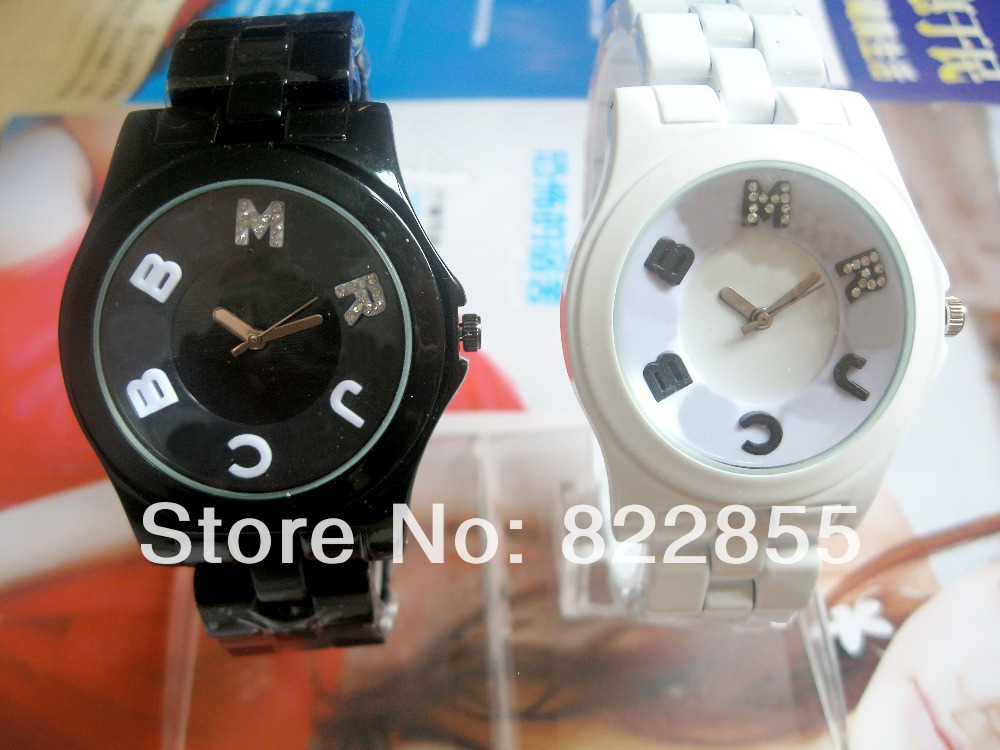 Hot selling new arrive 2014 hot sale women or men dress daimond mj watch with white and black available