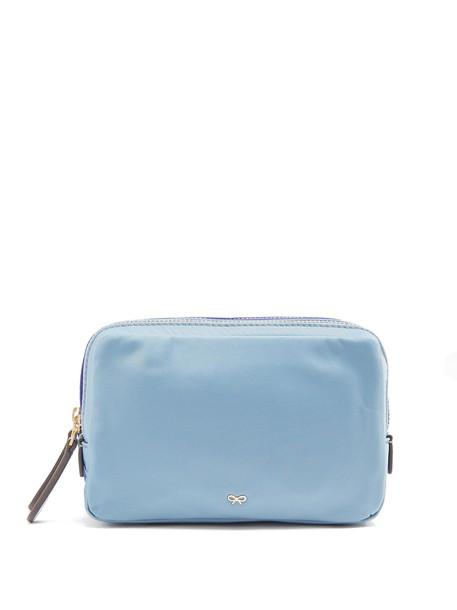 Anya Hindmarch zip bag blue
