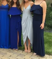 dress,grey,prom dress,grey dress,wrap dress,love,cute,cute dress,formal dress,perfect,spaghetti strap,spaghetti straps dress,ankle length,maxi dress