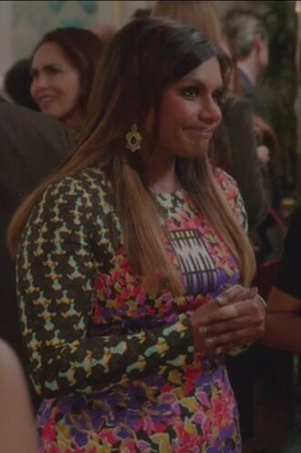 dress the mindy project mindy lahiri mindy kaling floral long sleeve