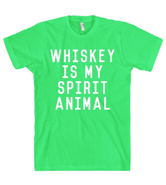 t-shirt green cool neon trendy fashion style white summer whiskey quote on it clothes
