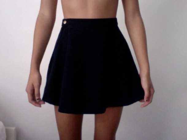 a6d1d9200 skirt, clothes, skater skirt, black skirt, tumblr, tumblr - Wheretoget