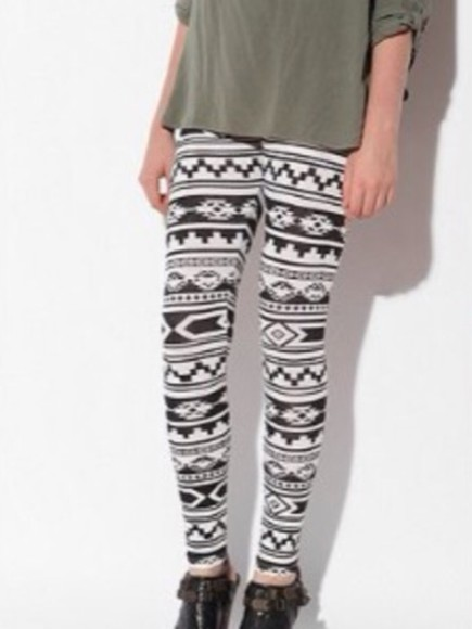 aztec aztec print pants aztec leggings leggings