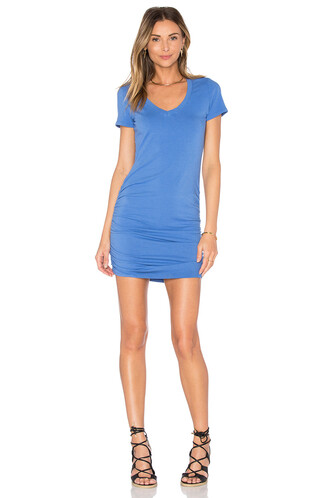 dress shirt dress v neck blue