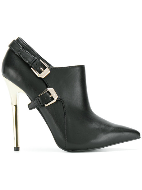 women embellished booties leather black shoes