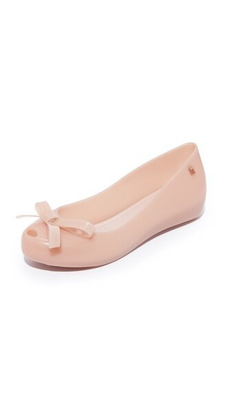 bow matte light pink light flats pink shoes