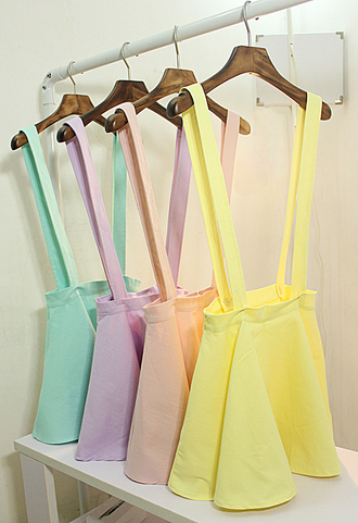 skirt purple pink yellow girl torquioise clothes romper dress overalls mint jumpsuit lavender overall skirt neon pastel coral purple dress skater skirt skater trendy dope cute gotta have it help find it too cute heart eyes mahogany lox pastel dress pastel skirt