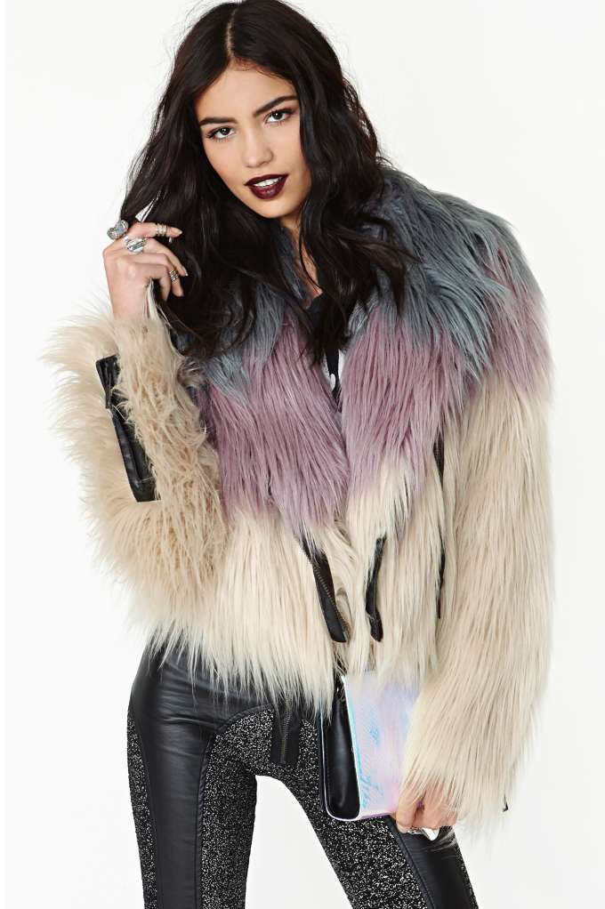 Chaser Dreamer Faux Fur Moto Jacket  in  Clothes Jackets   Coats at Nasty Gal