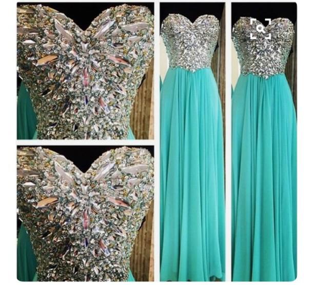 dress prom dress mint dress