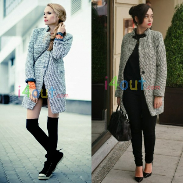 coat i4out jacket wool coat fashion swag streetstyle clothes clothes black style