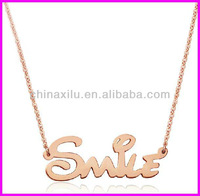 Source Latest design 2013 top fashion hot sale charm elegant gold smile necklace on m.alibaba.com