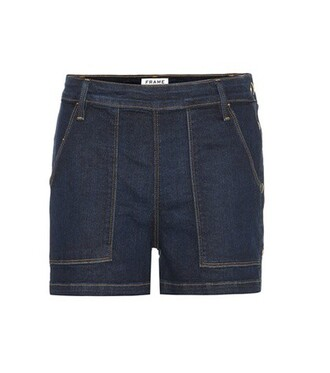 shorts denim shorts denim cotton blue