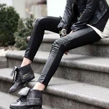 Faux Leather Panel Leggings   eBay