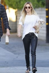 belt,sandals,pants,ashley tisdale,shoes