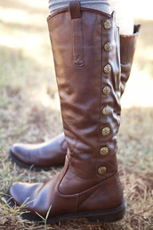 shoes,boots,brown shoes,brown booties,brown boots,brown leather boots,brown,tall boots,winter outfits,winter boots
