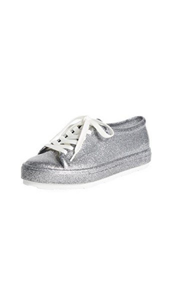 Melissa sneakers glitter silver silver glitter bright shoes
