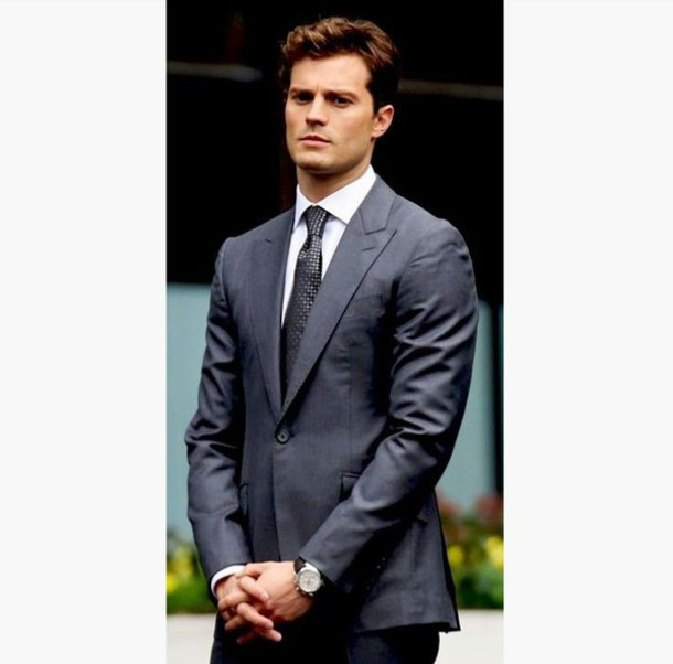 Jacket: mens suit, fifty shades of grey, jamie dornan, prom menswear ...