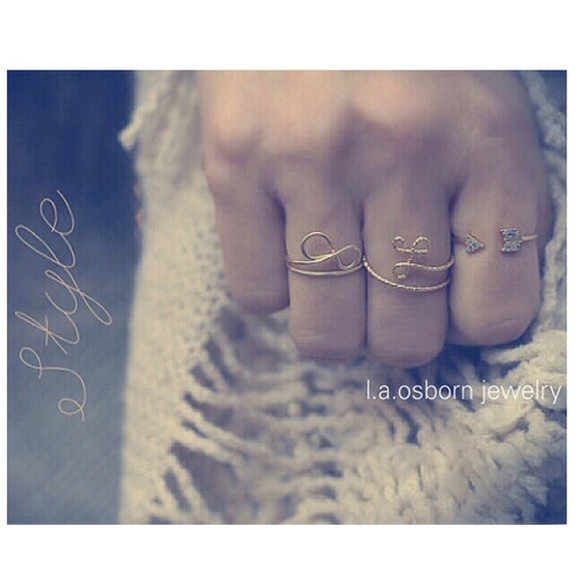 jewels infinity initial rings laosborn arrow jewelry friendship monogram eternity etsy instagram ring style gold rings gold jewelry gold midi rings simple boho chic hipster jewelry hippie coachella fashion bridesmaids girly sparkle jewelry fashion womens accessories infinity