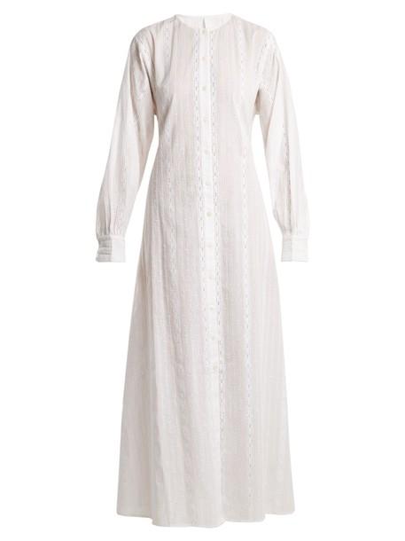 Merlette dress lace cotton white