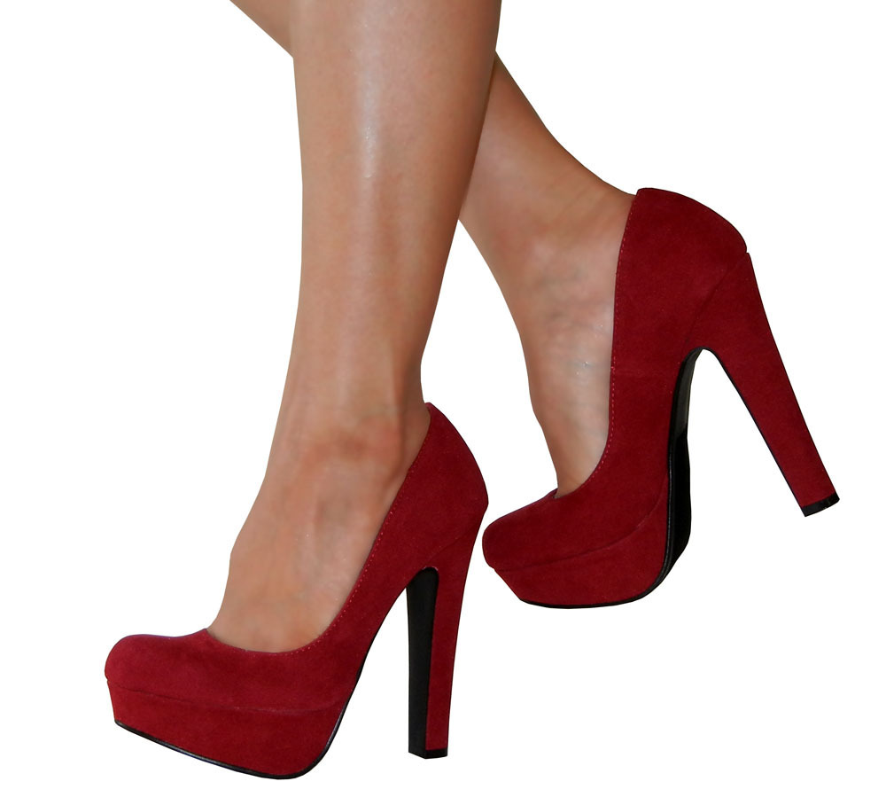 Platform Pumps With Thick Heel - Is Heel