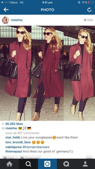 jacket rosie huntington-whiteley celebrity style model sunglasses style fashion boots