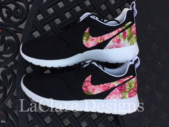 shoes nike running shoes roshe runs justin bieber style floral shoes