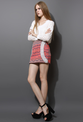 skirt,aztec,embroidered,bud,pink
