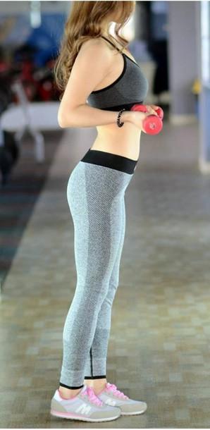 a5b5275dc47b4 grey grey grey leggings yoga pants fitness fitness pants fitness nike pro  activewear sportswear bodycon leggings