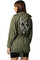 Skull back parka coat