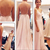 Sexy Chiffon Floor Length Spaghetti Straps V Neck Light Pink Open Back Prom Dress , Party Dresses, D on Luulla