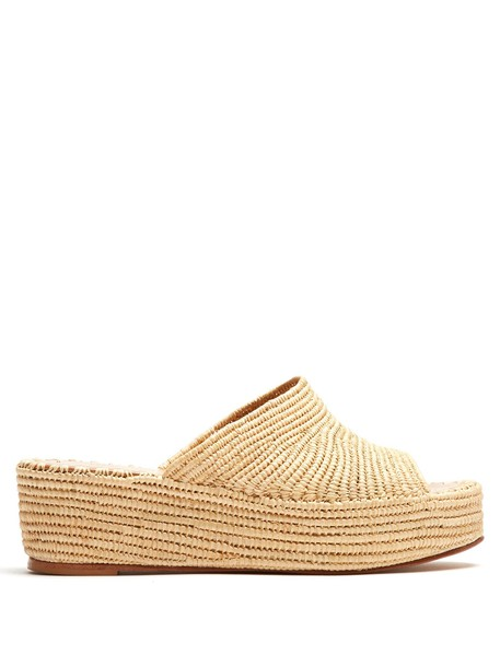carrie forbes sandals flatform sandals cream shoes