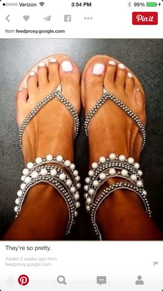 shoes pearl sandals style fashion