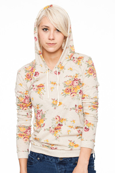 So Bitchin Floral Hoodie /