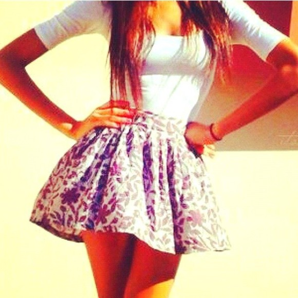 floral shorts white crop tops skirt floral t-shirt shirt @clothes @white @skirt @cute @summer