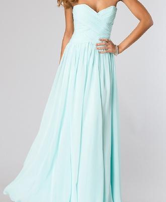 prom dress long dress blue ball gown dress dress