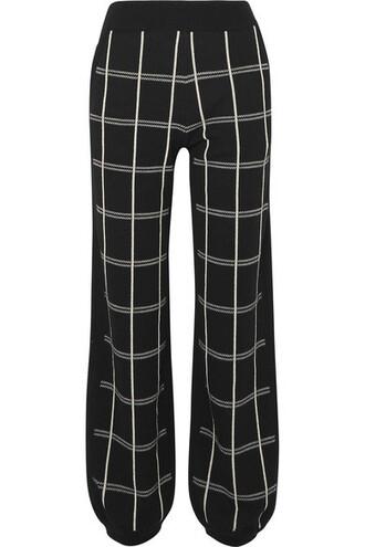 pants track pants black wool
