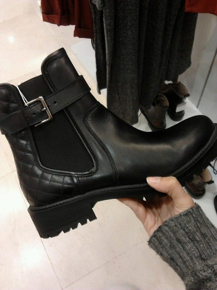 shoes cuir boots