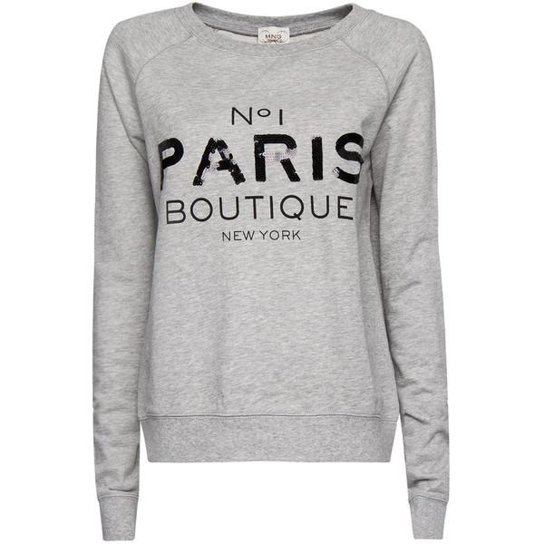 MANGO Paris sweatshirt - Polyvore