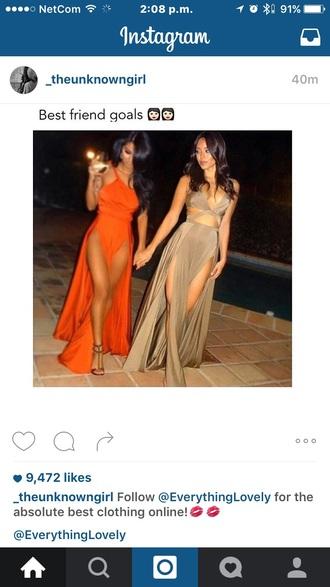 dress brown dress beige dress orange dress