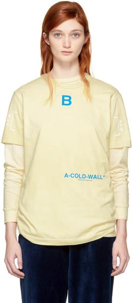 A-cold-wall* t-shirt shirt t-shirt tan top