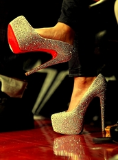 shoes,crystal,louboutin,christian louboutin replica,swarovski crystal,pumps,heels,hight heels,red sole,shiny,sparkle