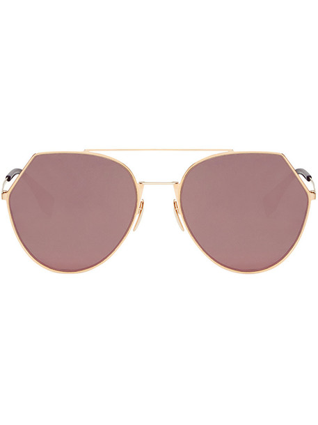 Fendi Eyewear metal women sunglasses grey metallic