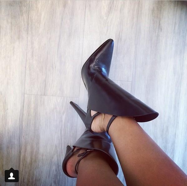 karrueche boots high heels black