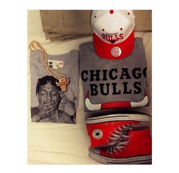 Swag Shirts Tumblr T-shirt Chicago Bulls Swag