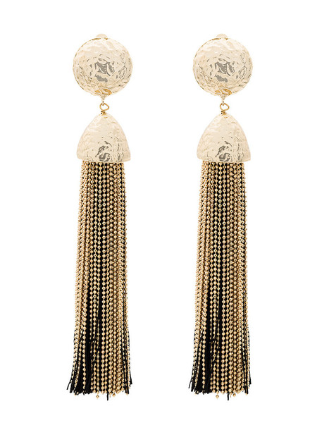 tassel women earrings black jewels