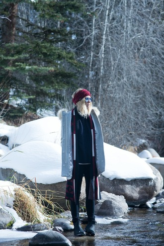 damsel in dior blogger duffle coat turban winter outfits