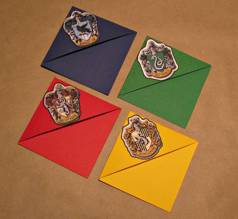 Harry Potter Set Of Four House Crest Corner Bookmarks
